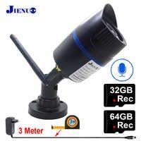 JIenuo IP Camera Wifi 1080P 960P 32G 64G Audio IPCam CCTV Security Surveillance Outdoor Waterproof Wireless Onvif HD Home Camera