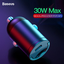 Baseus Quick Charge 4.0 3.0 USB C Car Charger For Xiaomi mi9 Huawei P30 Pro QC4.0 QC3.0 QC 5A Fast PD Car Charging Phone Charger(China)