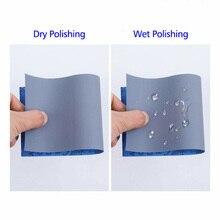 51 шт влажные сухие наждачные бумаги шлифовальный полировальный шлифовальный круг 9x3,6 дюймов набор