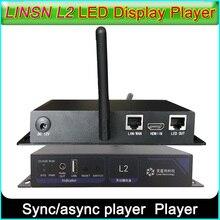 LINSN L2 senkron/asenkron oyuncu, WiFi/LAN/USB yöntemi tam renkli LED ekran gönderen