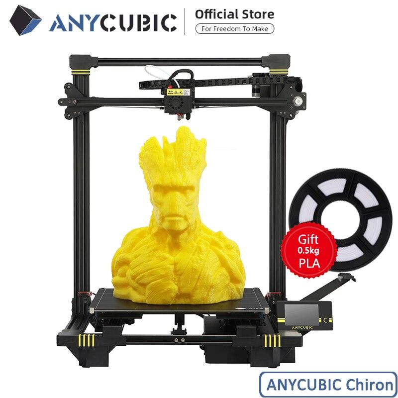 طابعة ANYCUBIC Chiron ثلاثية الأبعاد لتقوم بها بنفسك TFT التسوية التلقائية impresora طابعة ملونة ثلاثية الأبعاد مزدوجة Z محور Impressora مجموعة ثلاثية الأبعاد Drucker