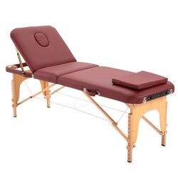 2020 Spa Tisch Einstellbare Massage Bett 3 Falten Massage Couch Tragbare Salon Bett Legierung mit platz kissen Tragbaren rucksack