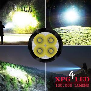 Image 5 - 8000 Люмен самый мощный светодиодный фонарик мини usb 4 * XPG светодиодный тактический водонепроницаемый перезаряжаемый 18350/18650 аккумулятор
