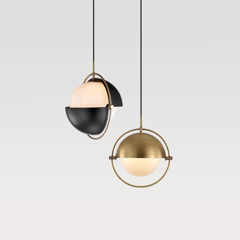 Modern Pendant Light Art Creative Metal Gold Globe Hanging Lamp Changeable Pendant Lamp Bar Kitchen Living Room Light Fixture