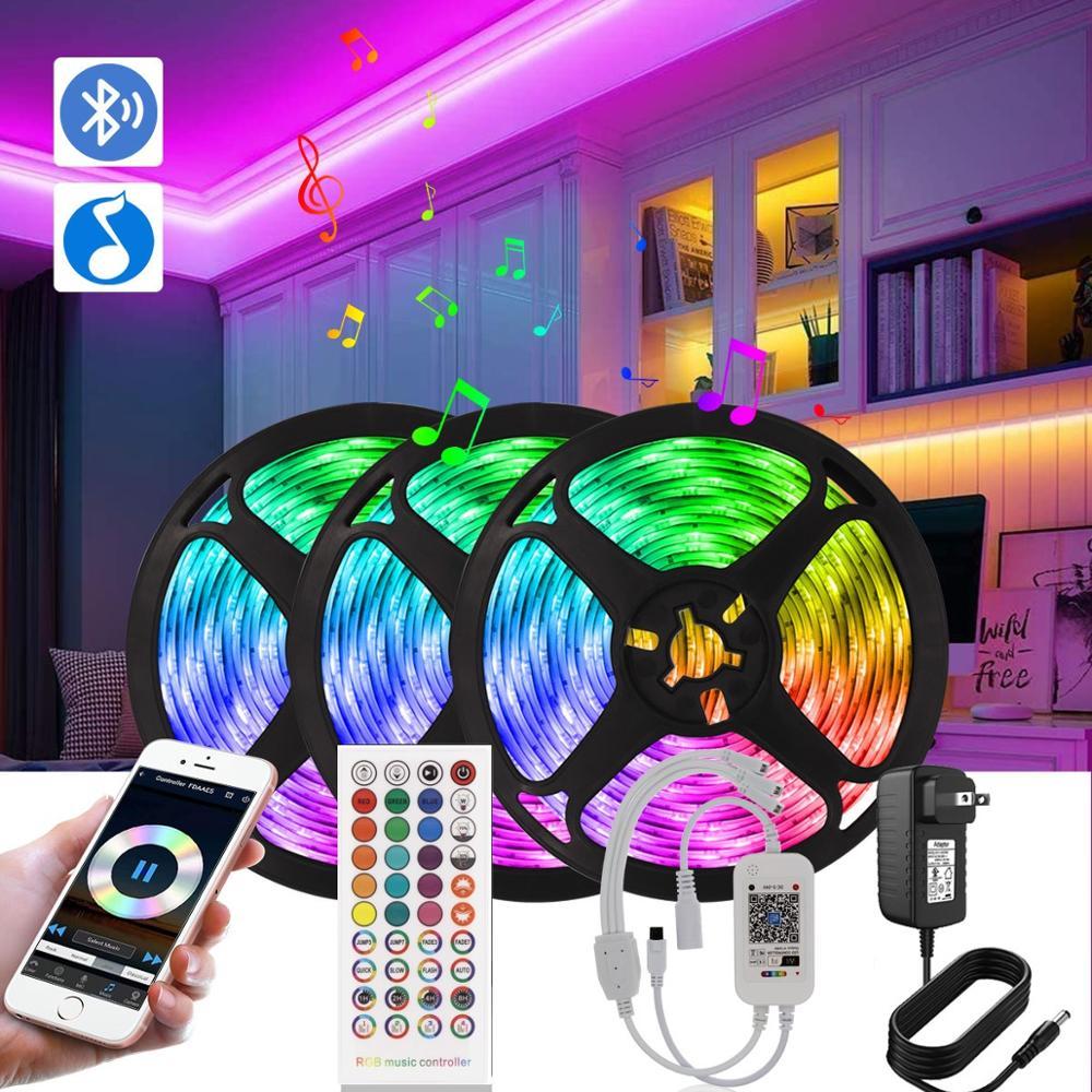 RGB LED Licht Streifen 12V Wasserdichte SMD5050 Farbwechsel Bluetooth Controller + 40 Schlüssel Fernbedienung Led-leuchten für Schlafzimmer home Party
