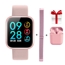 P70 Smart Watch + Tali + Earphone/Set IP68 Tahan Air untuk Wanita Heart Rate Tekanan Darah Monitor Tidur untuk IOS Android(China)