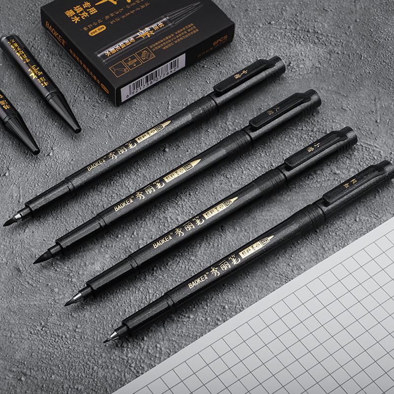1/3Pcs Calligraphy Pen Hand Lettering Pens Brush Refill Lettering Pens Markers for Writing Drawing Black Ink Pens Art Marker