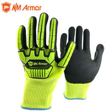 Anti Vibration Work Gloves ANSI A5 With HPPE Cut Resistant Oil-Proof Mechanics Safety Working Glove