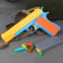 Feisuo Blasters Foam Play Toys Gun-Colt 1911 Toy Gun with Soft Bullets and Ejecting Magazine. Actual Size of M1911 for Training