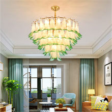 Nordic Post-Modern Minimalist Light Luxury Creative Personality Living Room Bedroom Restaurant Peacock Glass Green Chandelier(China)