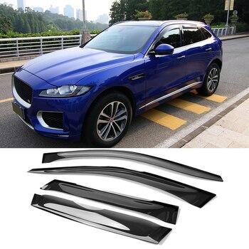 Fit For Jaguar F-PACE 2016-2020 Car Window Visor Sun Rain Guard Vent Shade 4pcs set Car styling accessories