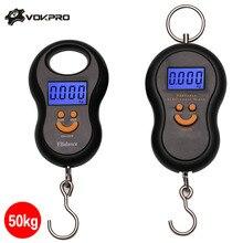 50Kg X 10G Mini Digitale Weegschaal Voor Vissen Bagage Reizen Weging Steelyard Opknoping Elektronische Haak Schaal Keuken Gewicht tool