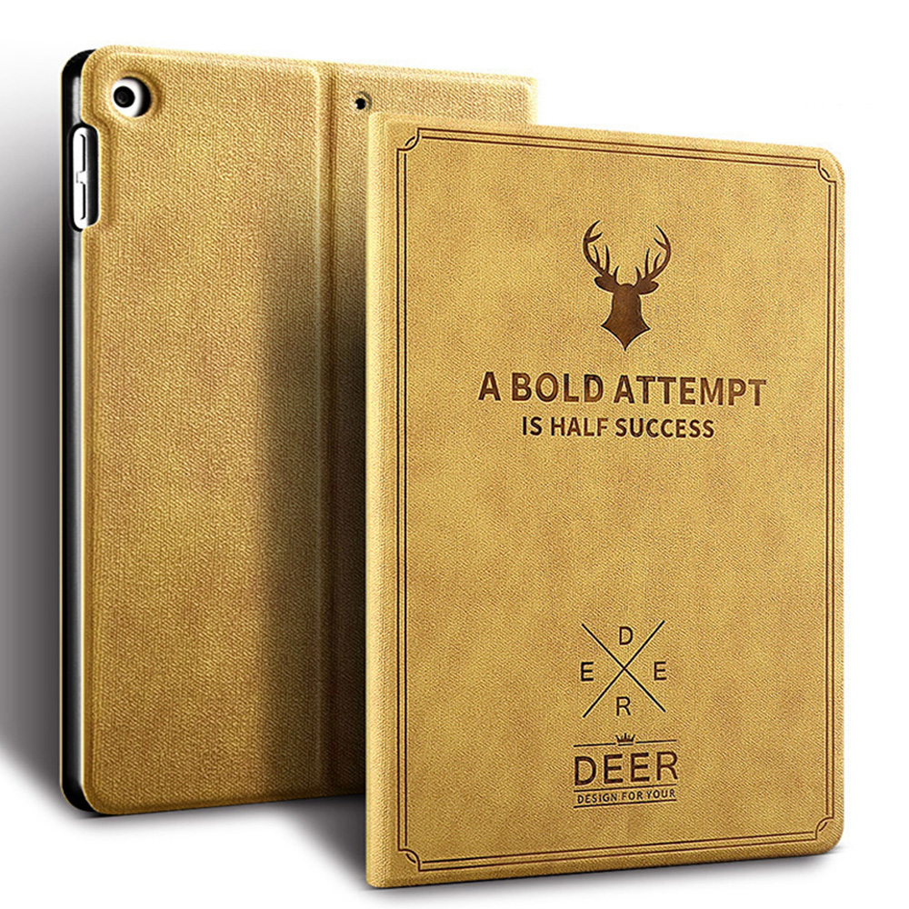 Camel Camel Retro Deer Pattern style Case For iPad Air 4 10 9 2020 A2324 A2072 cover For