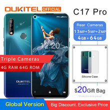 "Oukitel C17 Pro 6.35 ""19.5: 9 Android 9.0 Mobiele Telefoon MTK6763 Octa Core 4G Ram 64G Rom Dual 4G Lte Achter Triple camera Smartphone(China)"