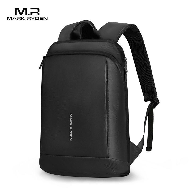 Mark Ryden Slim Laptop Backpack Men Thin Back Pack 15.6 Inch Work Man Backpack Business Bag Unisex Black Ultralight Backpack