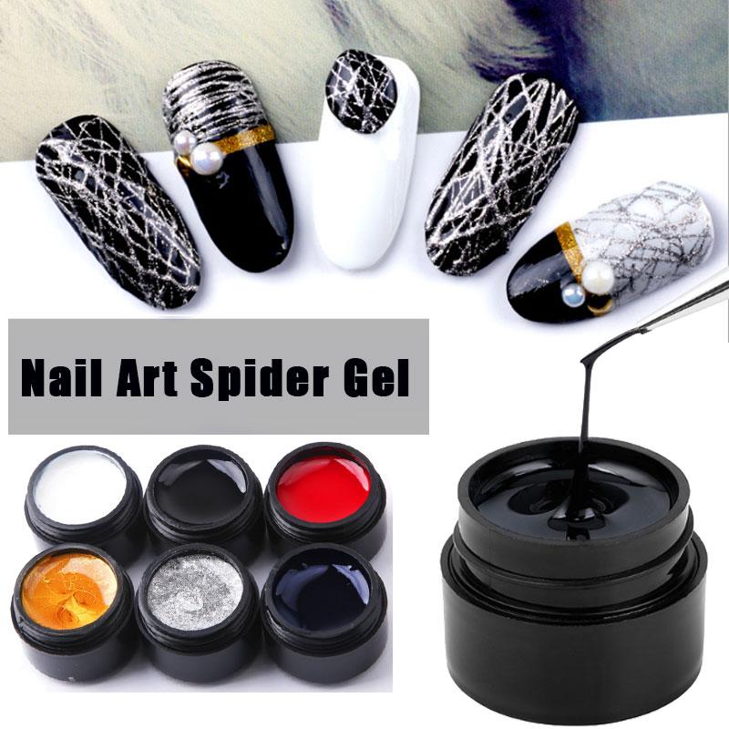 8ml Spider Gel Nail Polish Web Painting Creative Nail Art UV Gel Wire Drawing Elasticity Point Line Soak Off Gel Spider Varnish