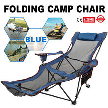 Lounge-Chair Folding Fishing Outdoor Sofa Relax Camping Blue for And Activities