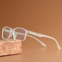 Vazrobe 8g şeffaf gözlük çerçevesi erkekler kadınlar TR90 gözlük adam miyopi gözlük reçete gözlük İlerleyen küçük