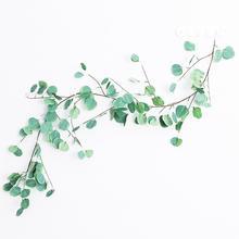 1Pc 170cm Greenery Leaf Garden DIY Party Holiday Decor Vivid Color Artificial Eucalyptus Non-fading