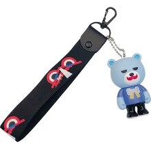 Creative Korea lovely bear doll key chain top little peripheral pendant bag knitting