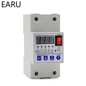 Image 2 - 63A Automatic Reconnect Circuit Breaker Over And Under Voltage Over Current Leakage Protection Surge Protect Protector Relay