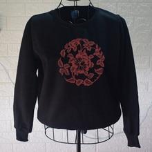 Casual Flower Graphic Print Sweatshirt Lady O-neck Long Sleeve sweatshirt Unisex Fall / Winter Pullover loose fit random lip print pullover sweatshirt for fall