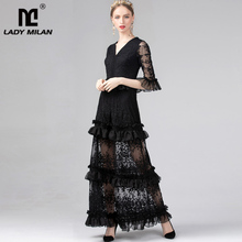 Embroidery Tired Neck Dresses