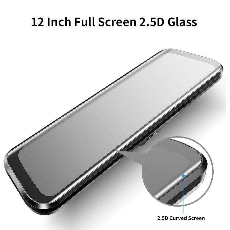 12 Polegada Android 8.1 Adas Dvrs Câmera Do Carro Traço Cam Gps Navi do Bluetooth Gravador de Vídeo Fhd 4G Wi fi Dvr espelho - 2