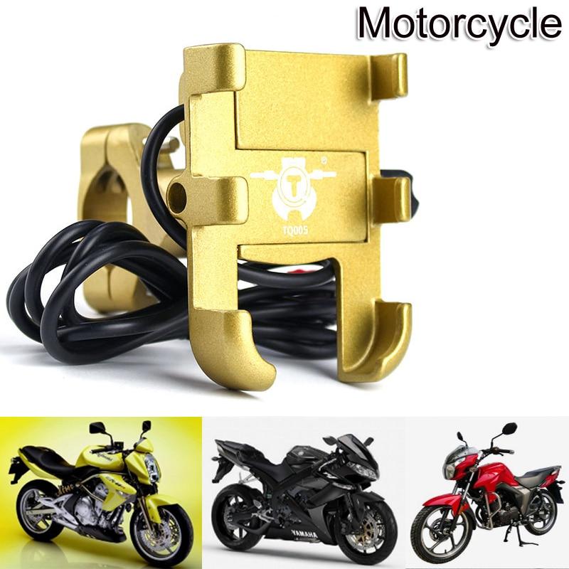 Aluminum Alloy Motorcycle Phone Holder Support MotorBike Handlebar GPS Navigation Bracket Mount Clip For Mobile Cellphone