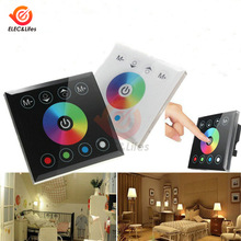 DC 12-24V LED Lamp RGBW Controller Full color wall mounted Touch Panel dimmer switch 4CH For 5050 3528 3014 RGB RGBW Strip light