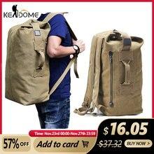 Outodor XA208WD mochila táctica militar de viaje para mujer, bolso de cubo de lona, bolso deportivo de hombro