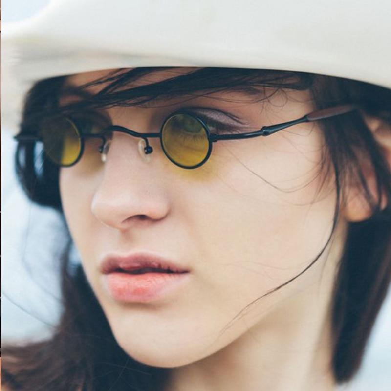 2019 New Fashion Gothic Steampunk Tiny Round Sunglasses Women Men Brand Design Small Frame Vintage Sun Glasses UV400