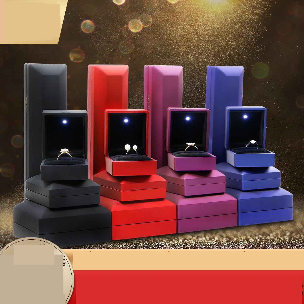 New Fashion Led Light Earring Necklace Rings Display Jewlery Box Personalized Luxury Wedding Ring Trinket Jewelry Packaging Box