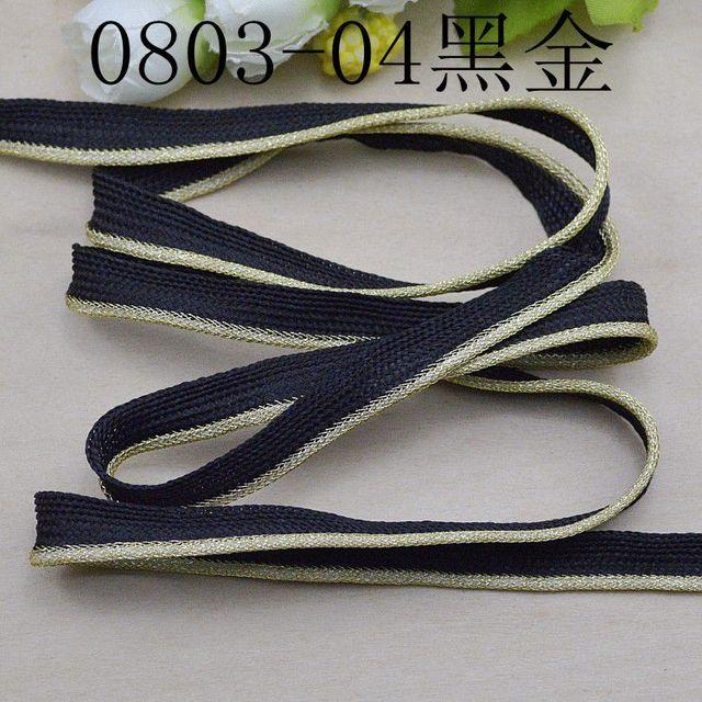 Bordes de costura dorados de buena calidad por 10 metros Mayorista ribete de costura Ribete Lurex Or-ribete dorado de buena calidad