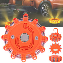 Magnetic Emergency Roadside Safety Light IP44 Road Flares Rescue Light LED Strobe Warning Light Flashlights Car Beacon Lamps AA