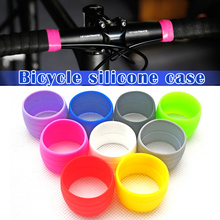 1 Pair Bike Silicone Elastic Strap Fixing Ring Anti-Skip Plugs Waterproof Wear Resistant Strap Loops for Road Bike Bar Tape lichao 8112705 bike elastic silicone fixing bandage for cellphone tool stop watch more black