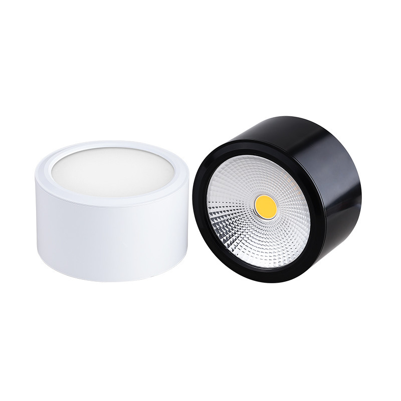 Dimmable LED Downlights 6W 10W 14W 20W COB LED Ceiling Lamp Spot Lights AC85-265V LED Wall Lamp Indoor Lighting White Black