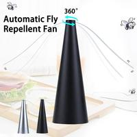 Fan Leaf Fly Repellent Multifunction Automatic Flycatcher Outdoor Garden Household Catch Fly Flies Mosquito Insect Repellent Fan