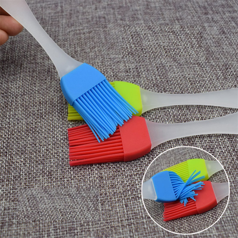 17CM/20CM Silicone Baking Tray Bread Chef Pastry Oil Butter Paint Brush Barbecue Brush Silicone Baking Barbecue Tool