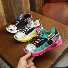 2019 Autumn Kids sneakers Girls shoes Boys Fashion Casual Children Shoes for Girl Sport Running Child Shoes Chaussure Enfant цена 2017
