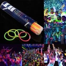 100pcs/lot Neon Party Glowstick Glow In The Dark Light Up Toys Fluorescence Sticks Bracelets Necklaces Party Luminous Decor E