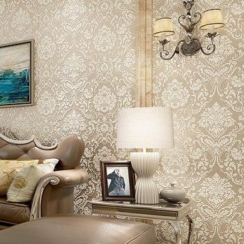 цена на 3D NewNew Non-woven Fabric European Flower Wallpaper  Home Decoration Wall Paper Warm Living Room Bedroom TV Background