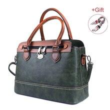 2019 nuevo bolso de mano de mujer Vintage de cuero genuino bolsos de hombro de lujo de gran capacidad bolso de mensajero de viaje de negocios