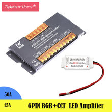 DC5-24V RGB+CCT Led Strip Amplifier Controller 6pin 50A 15A for 5CH 5050 RGBW RGBWW LED Lights Strip Light Signal Repeater(China)