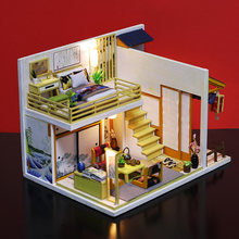 DIY Wooden House Toy Wooden Chinese elements classical Doll Houses Dollhouse toys With Furniture LED Lights Birthday Gift(China)