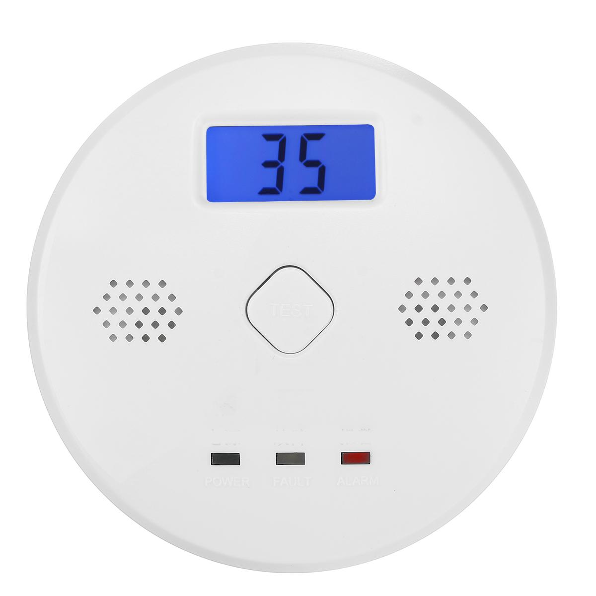 Carbon Gas Monoxide Alarm CO Detector Household LCD Display High Sensitive Smoke Fire ASK Alarm Sensor Detectors Home Security
