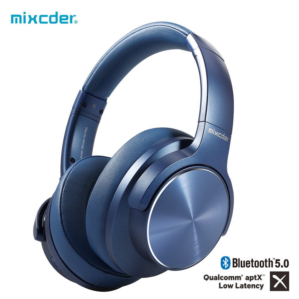 [Original] mixcder e9 pro fones de ouvido aptx ll sem fio bluetooth fone de com cancelamento de ruído ativo microfone fones de ouvido base profunda