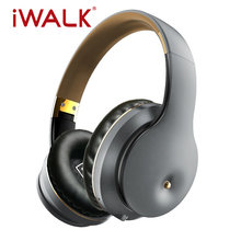 IWALK Wireless Bluetooth 5.0 Headset Foldable Earphones 100 Hours Long Standby Headphones for IPhone Xiaomi Huawei Samsung Ipad(China)