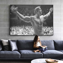 2015 special offer direct selling freeshipping no 50x50 oil square cuadros wall pictures for living room quadros high quality 35 Schwarzenegger Bodybuilding Oil Canvas Painting Cuadros Fitness Inspirational Posters Prints Wall Art Pictures for Living Room