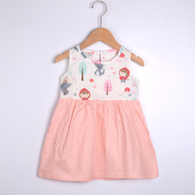 VIDMID baby girls summer short sleeve dresses cotton clothes folwers dresses kids girls casual dresses children clothing 7119 01 3